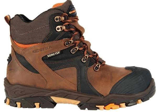 Cofra Ramses S3 Mens brown gore-tex work boots composite toe caps and midsole